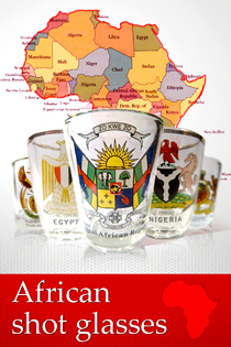 African shot glasses