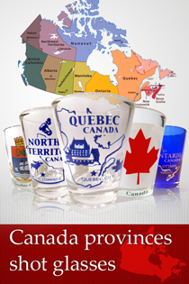 Canada provinces shot glasses
