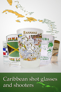 Caribbean Shot Glasses