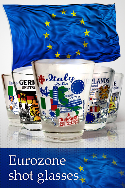 Eurozone (EU) Series shot Glasses